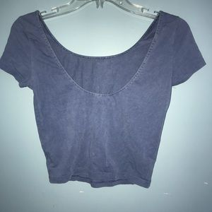 American Eagle Outfitters Tops - American Eagle Cotton Stretch Low Back Crop Top